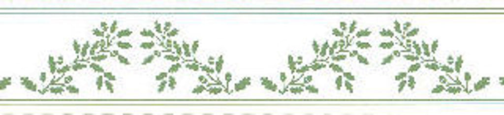 William Morris Green On White Border