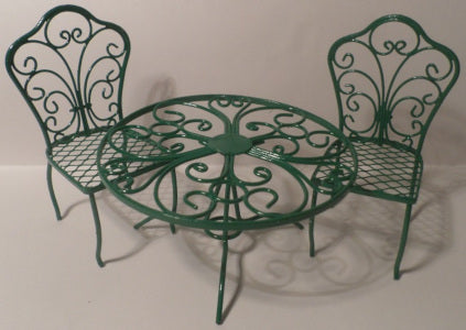 Green  Garden Table And Chairs