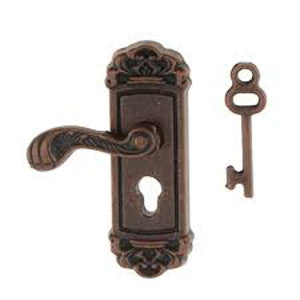 Bronze Door Handle With Keyplate