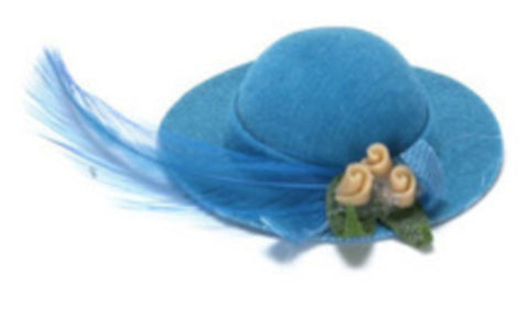 Blue Hat With Feather