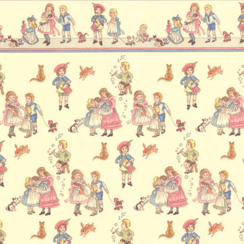 Cream Childrens Design Wallpaper