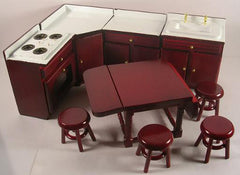 Mahogany Kitchen Set