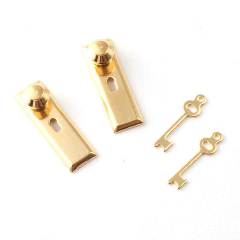 Door Knobs With Plain Key Plate