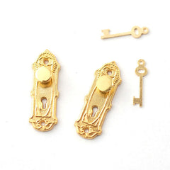 Door Knobs With Fancy Key Plate