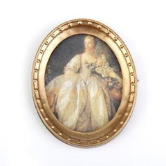 Lady In A Oval Frame