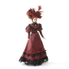 Porcelain Lady Ruby In Red