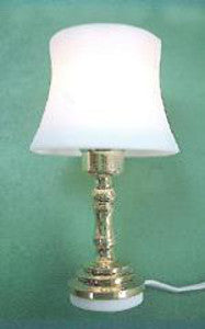 Small Lamp With A Brass Stand