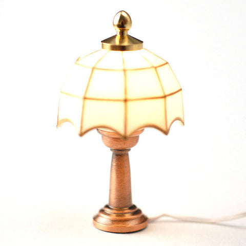 Tiffany lamp With A White Shade