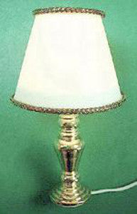Table Lamp With A Brass Base