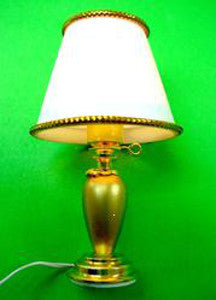 Table Lamp With A Pearl Base
