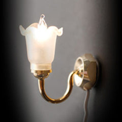 Single Fluted Globe Wall Light