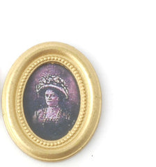 Lady In A Small Oval Frame