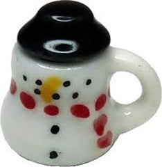 Snowman Mug With Hot Chocolate And Marshmallows