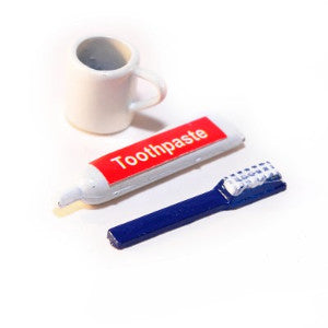 Toothbrush, Paste and Mug