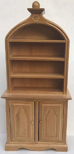 Shelf Unit With Domed Top And Detail Oak