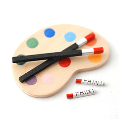 Artist Paints And Pallette