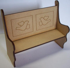 Church Pew Kit With Doves