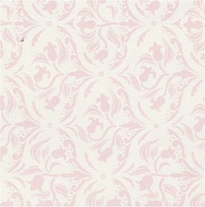 Tulip Arabesque Pink Wallpaper