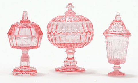 Candy dishes 3pc Pink