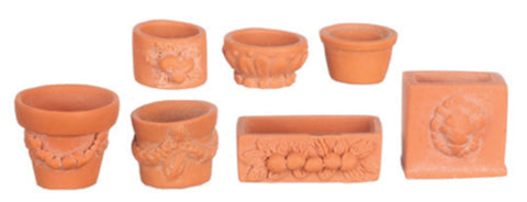 Assorted Garden Pots pk 7
