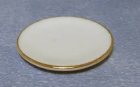 Dinner Plates Gilded Edge 4Pcs