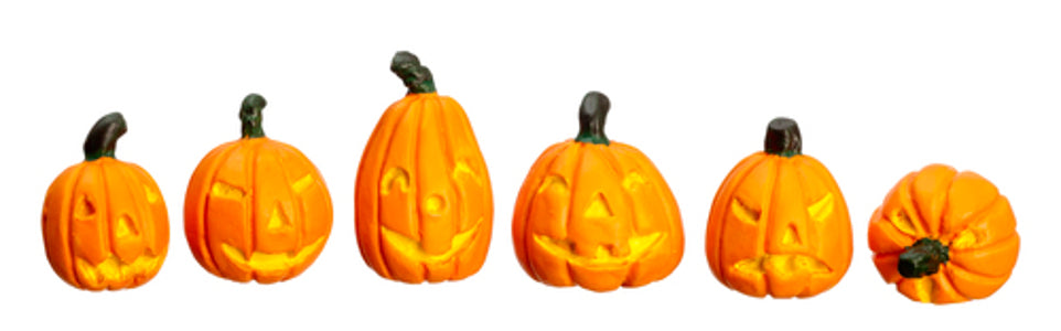 Halloween Pumpkins Set Of 6