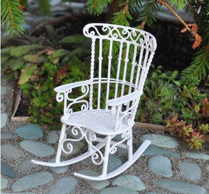 White Wire Rocking Chair