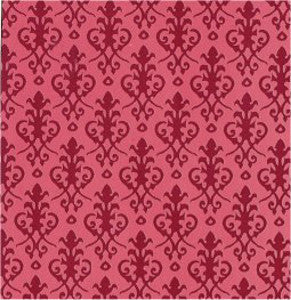 Victorian Red On Red Wallpaper