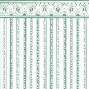 Regency Green Stripe Wallpaper