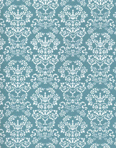 Renaissance White On Blue Wallpaper