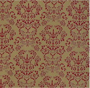 Renaissance Red On Gold Wallpaper