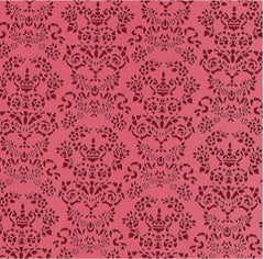 Renaissance Red On Red Wallpaper