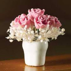 Pretty Pink Roses In A Vase