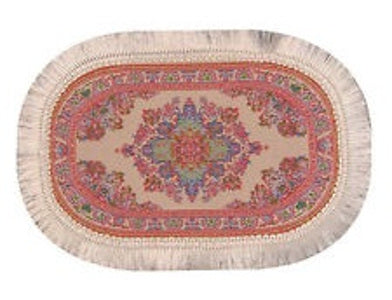 Turkish Oval Pink Rug