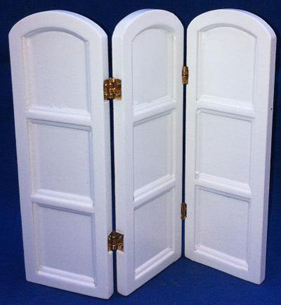 White Four Panel Screen