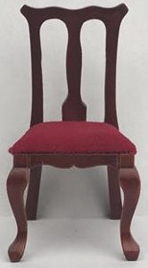 Brown Chair With A Red Seat