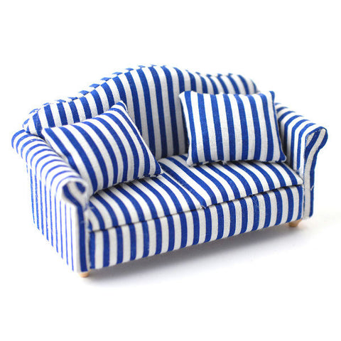 Blue Stripe Sofa