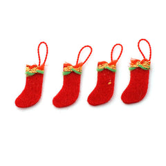 4 Felt Stockings