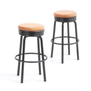 Black Bar Stools PK2