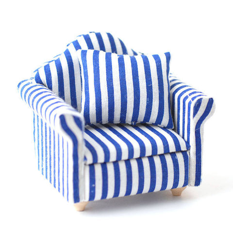 Blue Stripe Armchair
