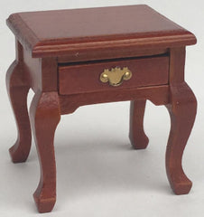 Bedside Table With Drawer Brown