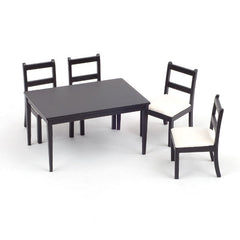 Black Dining Table And Four Chairs
