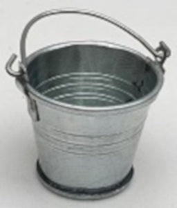 Tin Bucket With Rolltop Lip
