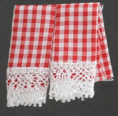 Tea Towels Red Gingham