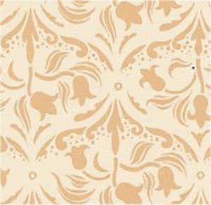 Tulip Arabesque Ivory Wallpaper