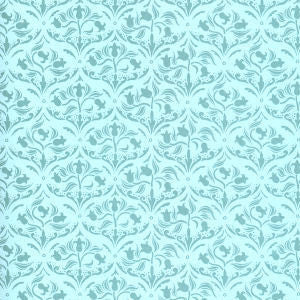 Sea Green Tulip Arabesque Wallpaper