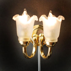 2 Arm Fluted Shade Wall Light