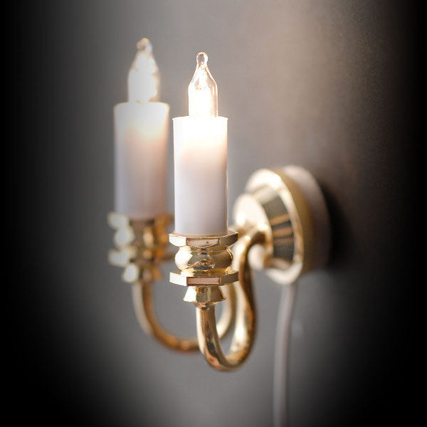 2 Arm Candle Wall Light