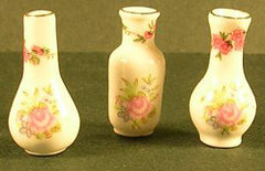 3 Small Slim Vases