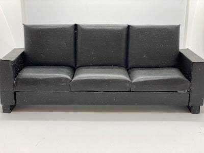 Black 3 Seater Couch